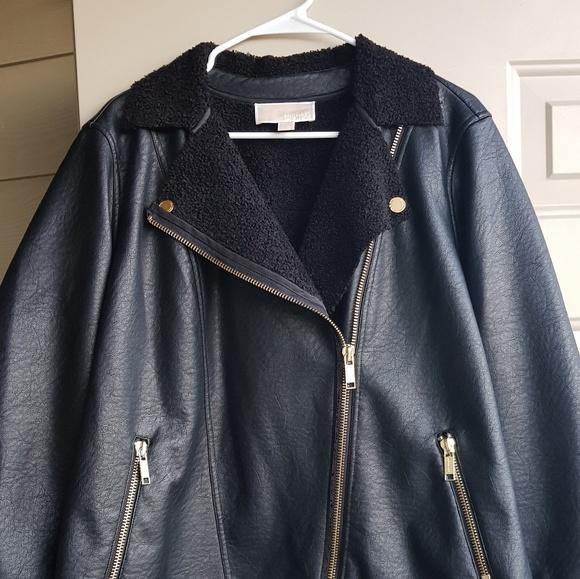 a61a938710e MICHAEL Kors Plus Size Faux Shearling Jacket